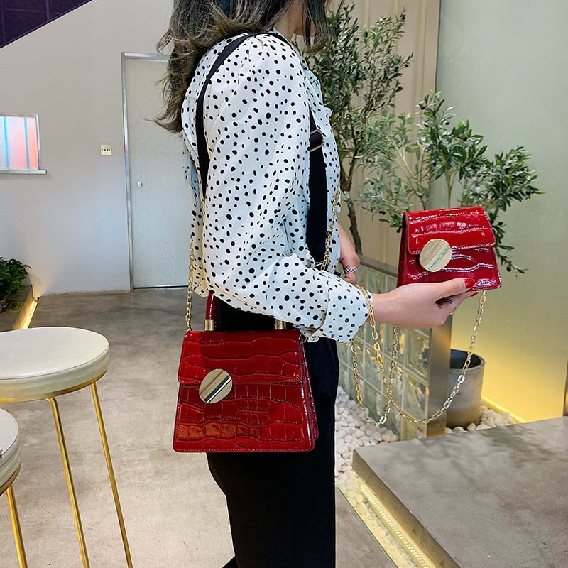 High Quality Printed Leather Crossbody Bags For Women