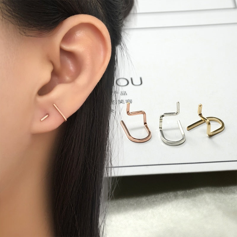 Hot Sale Handmade U-shaped Minimalist Stud Earrings