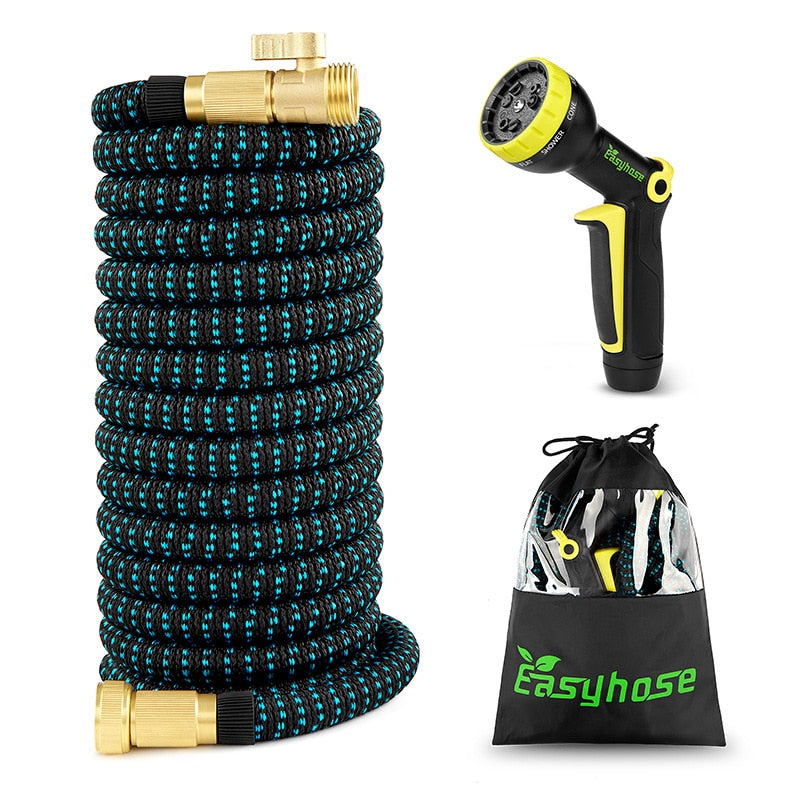 Expandable Magic Flexible High Pressure Garden Hose with Spray Gun for Watering Plants Car Wash