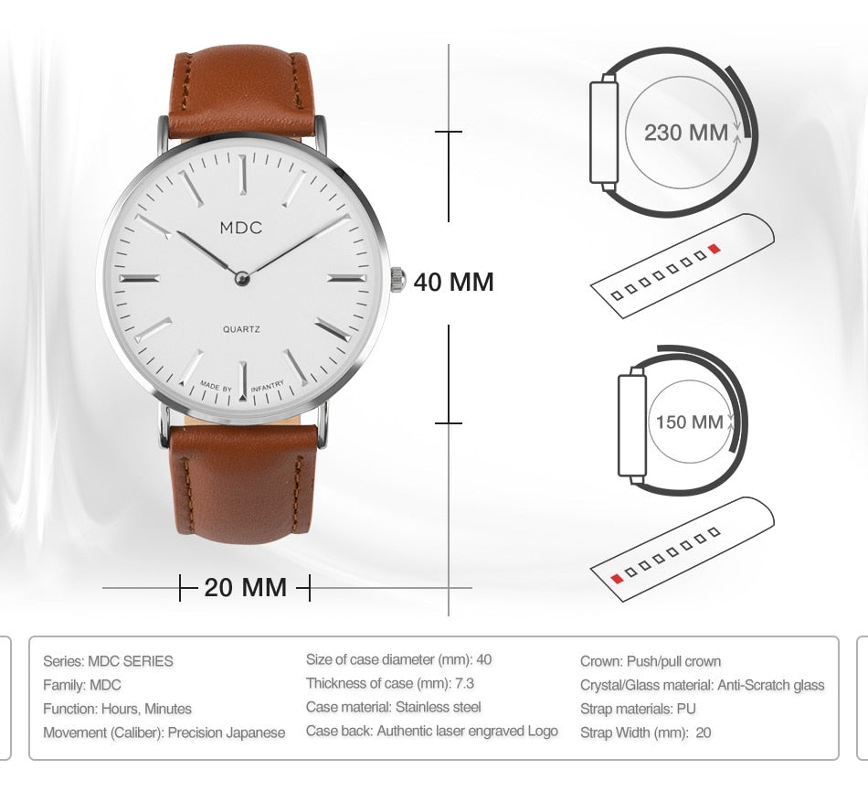 Top Brand Luxury Minimalist Classic Watches for Men