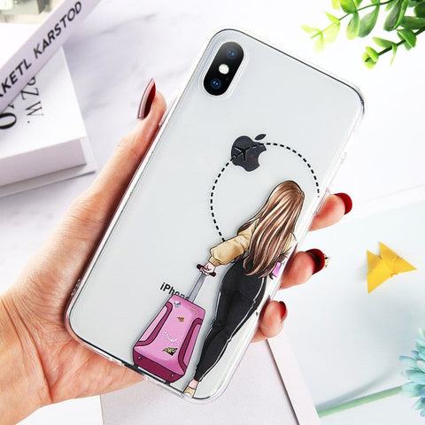 Beautiful Cool Girl Back Printing Pattern Phone Case