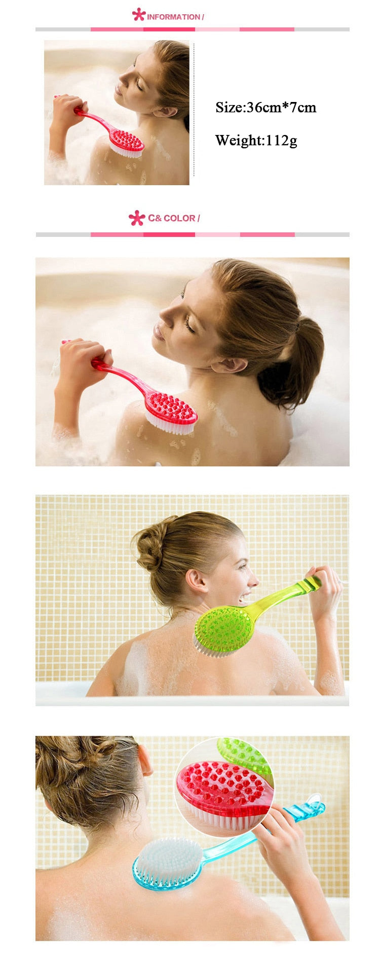 High Quality Long Handle Bath Body Brush