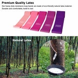 BEST SELLING Purple Ombre Resistance Fitness Training Rubber Bands