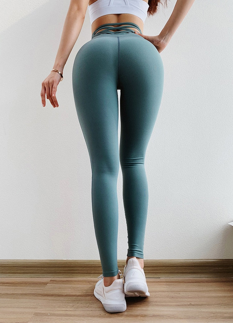 Sexy Tight High Waisted Scrunch Butt Workout Activewear legging For Women Fitness