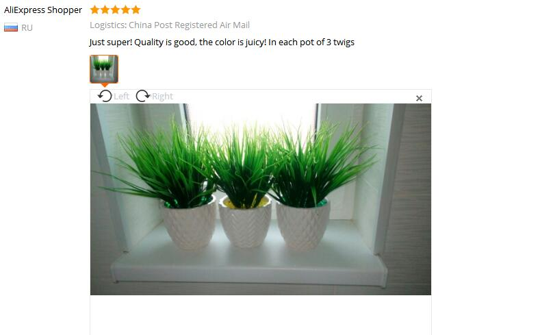 1 Piece Artificial Green Grass Plants for Living Room Decor