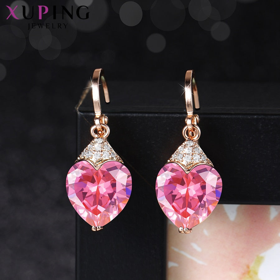 Fashionable Synthetic Cubic Zirconia Earrings for Gifts