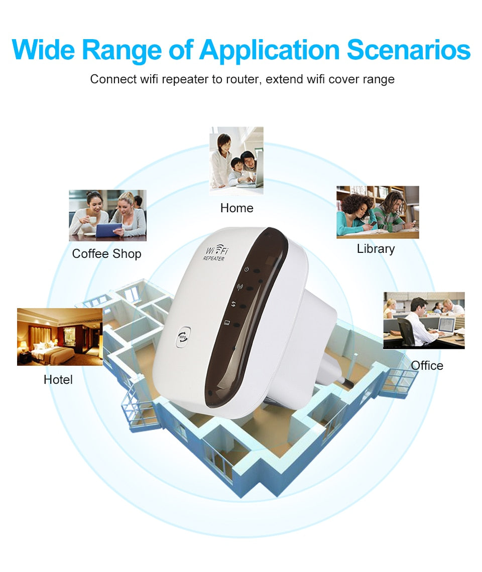 High Quality Wireless Wifi Range Extender / Wi-Fi Signal Amplifier / WiFi Booster 802.11n/b/g Wi Fi Ultraboost Access Point