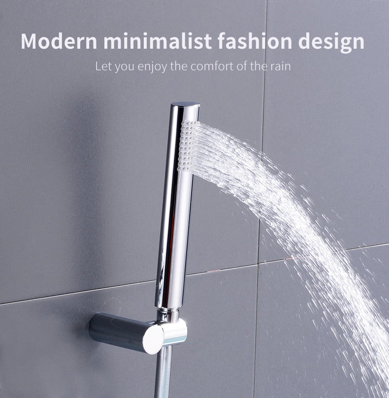 Wall Mounted Brass Hand Held Shower Holder and Hose Set