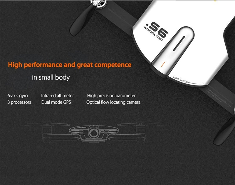 Hot Sale Pocket Selfie WiFi FPV With 4K UHD Camera Comprehensive Obstacle Avoidance RC Quadcopter