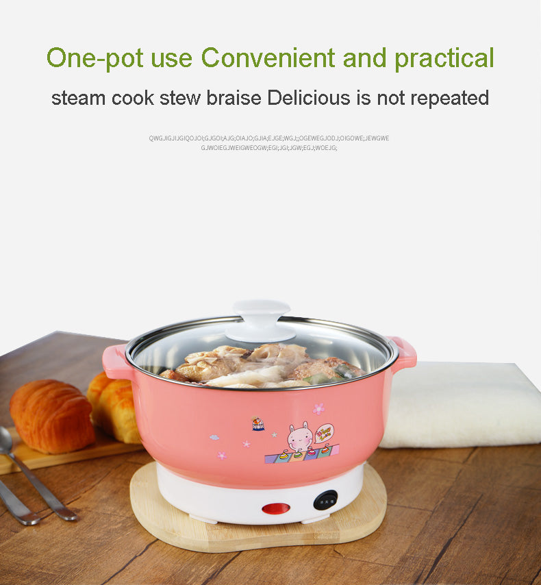 Multifunctional Mini Electric Stainless Steel Hotpot Rice Steamer