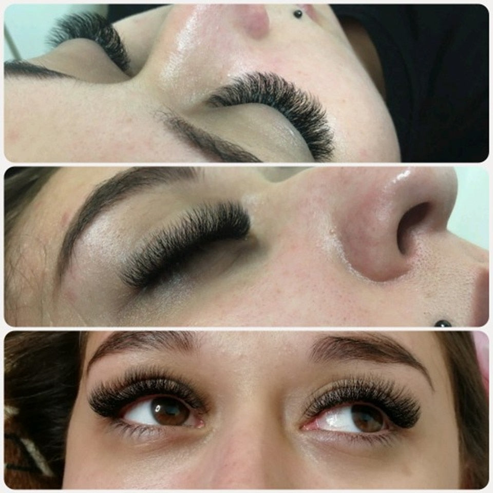 Korea Natural Long Individual Eyelash Extensions for Building Silk Volume Lashes