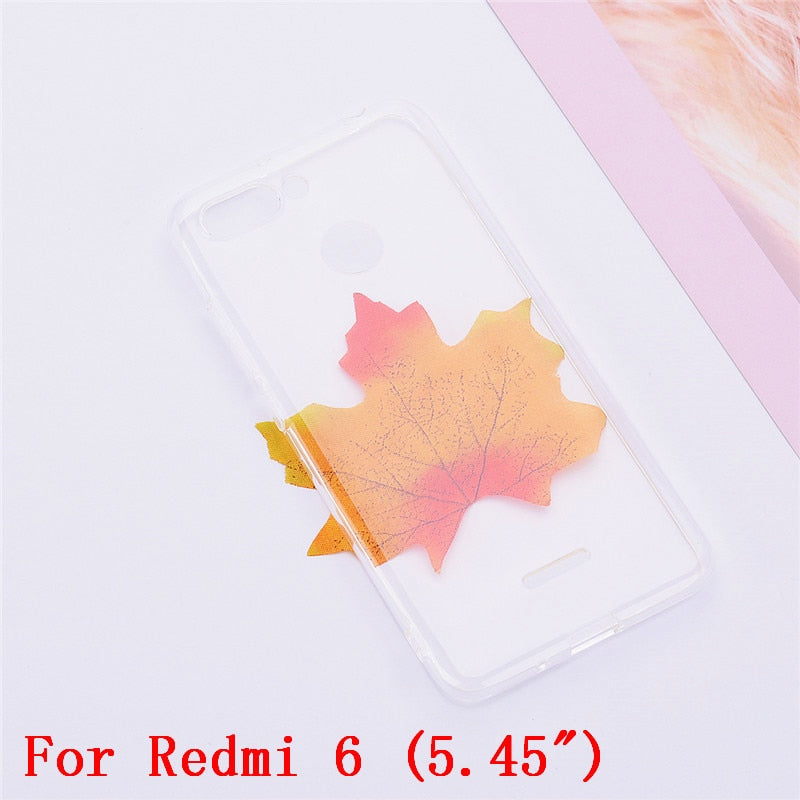 STYLISH Soft Silicone Leather Wallet Flip Case for Coque Xiomi Xiaomei Redmi 6A 6