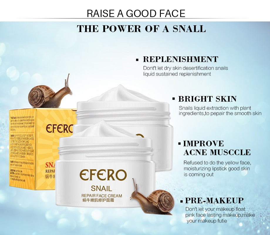 Hot Selling 30g Acne Snail Whitening & Moisturizing Face Cream