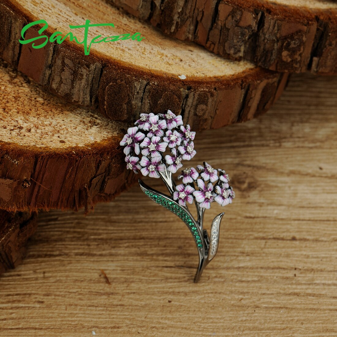 Fashionable Authentic 925 Sterling Silver Brooch for Women