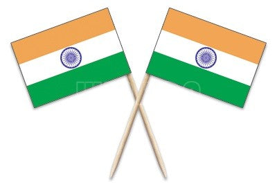 300Pcs India Flag with Toothpicks for Party Supplies