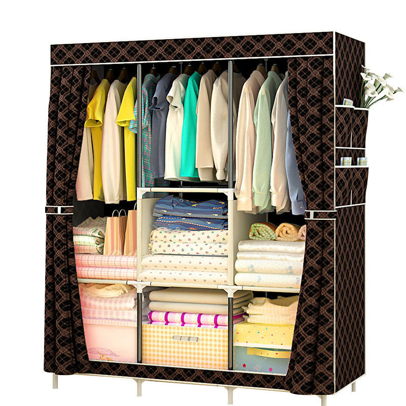 Multi-purpose Non-woven Folding Dustproof and Waterproof Cloth Wardrobe Storage Cabinet Furniture