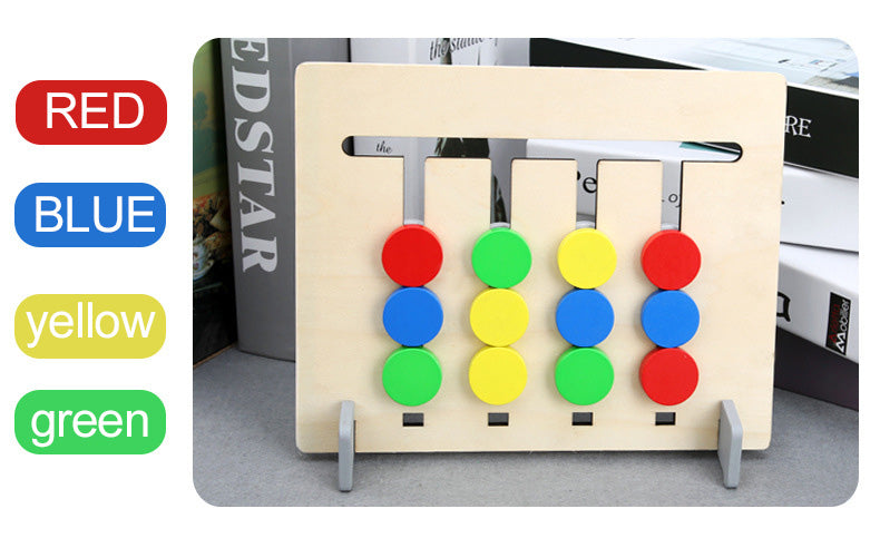 Colors and Fruits Double Sided Matching Game Logical Reasoning Educational Toys for Children