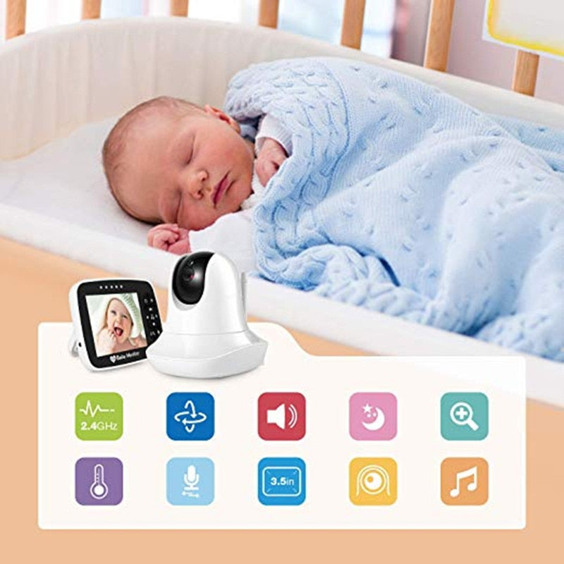 3.5'' High Resolution Infrared Night Vision Wireless Video Baby Sleeping Monitor with Remote Controller