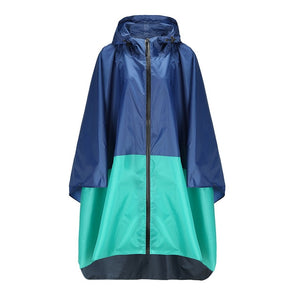 Waterproof Hooded Style Long Women Raincoat for Outdoor