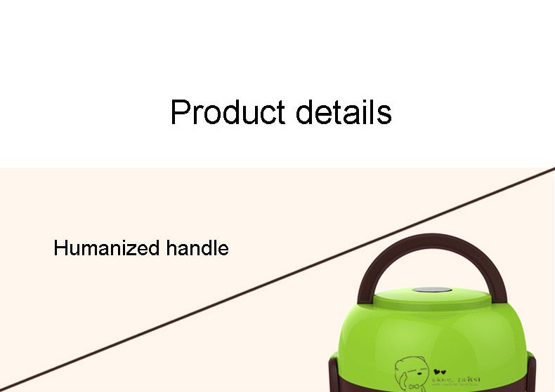 Classic 220V Mini Insulation Heating Electric 2 Layers Portable Steamer/Rice Cooker