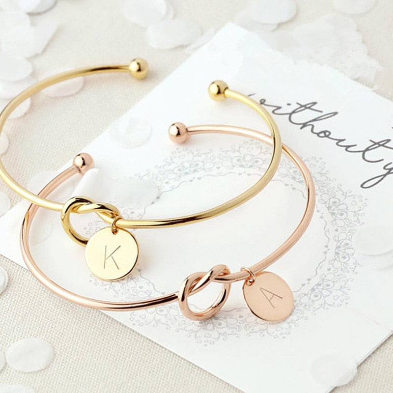 ATTRACTIVE Initial Letter Bracelet for Women