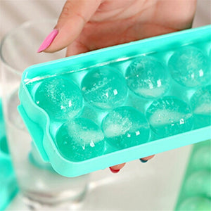 3D Shape 14 Grid Round Ice Molds Makers For Kitchen
