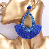 Fashionable Geometric Tassel Sequins Ladies Bohemia Earrings