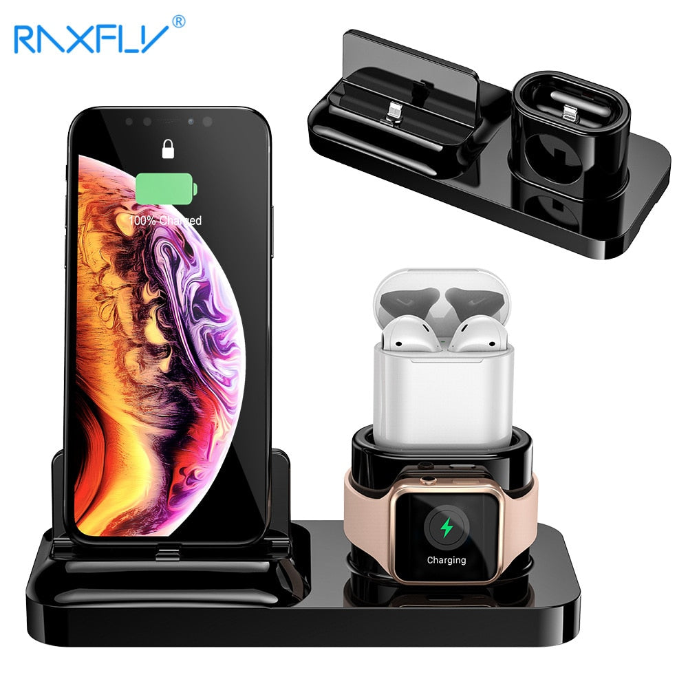 ALL NEW 3 IN 1 Magnetic Phone Charger for iPhone X S MAX XR 8 7 Apple Watch