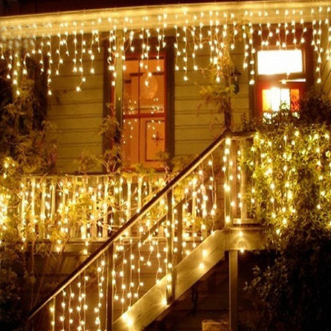 Waterproof LED Curtain Icicle String Lights for Outdoor Decoration