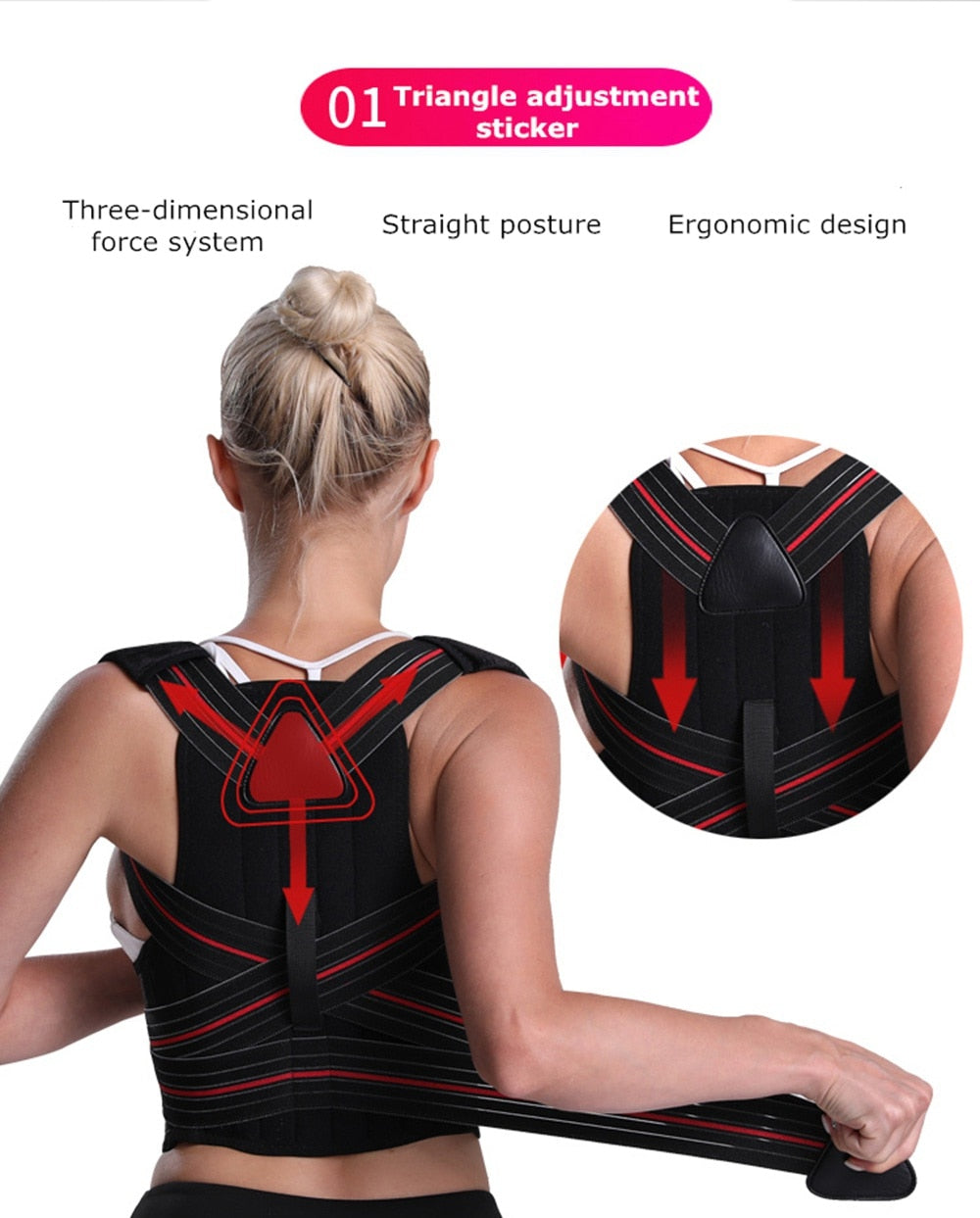 HOT SELLING Adjustable Clavicle Posture Corrector Belt for Both Men and Women