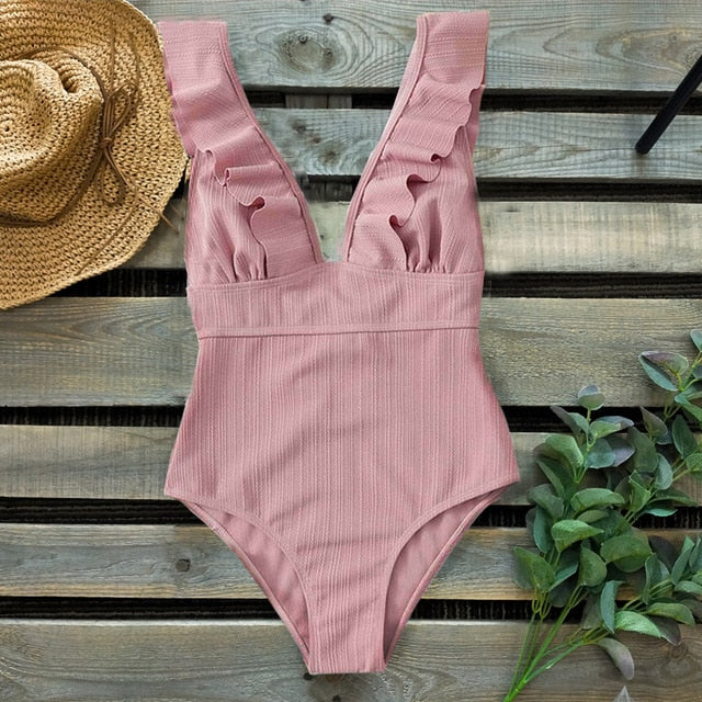 Trendy Backless One Piece Swimsuit for Women