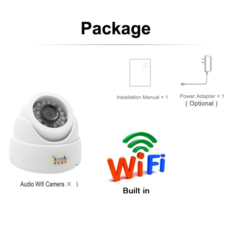 NEW HD Surveillance TF Card Slot Wireless Home Security CCTV Camera