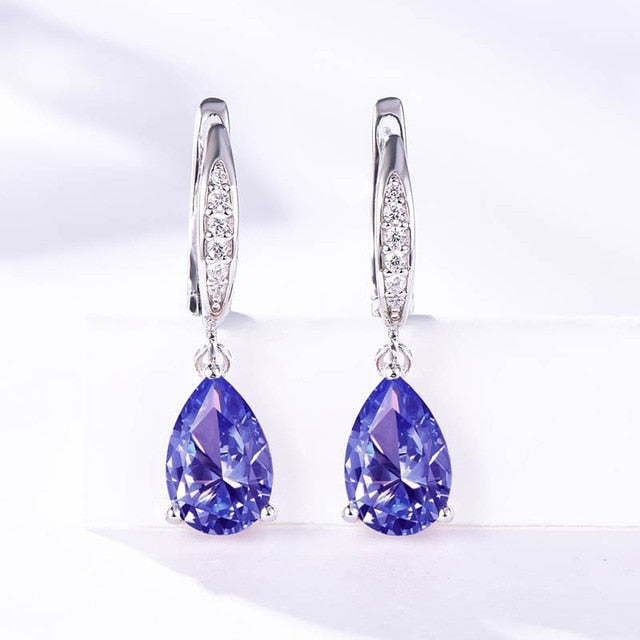 Trendy Zultanite Gemstone 925 Sterling Silver Clip Earrings for Women