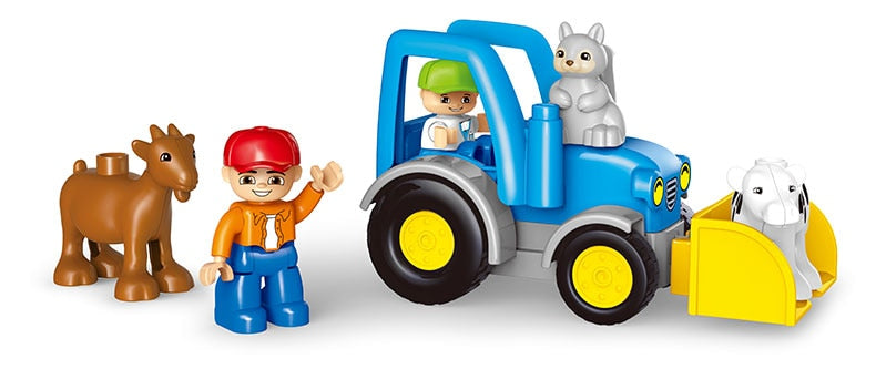 Big Size Happy Farm Mini Animal Figures Building Blocks Set For Kids