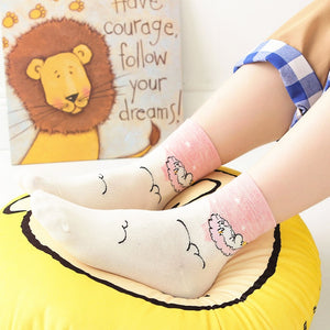 Cute Hippo Animal Print Funny Cartoon Socks