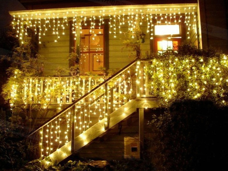 Gorgeous & High Quality 5m x 0.4m+0.5m+0.6m LED Curtain Icicle String Lights for Outdoor Decoration