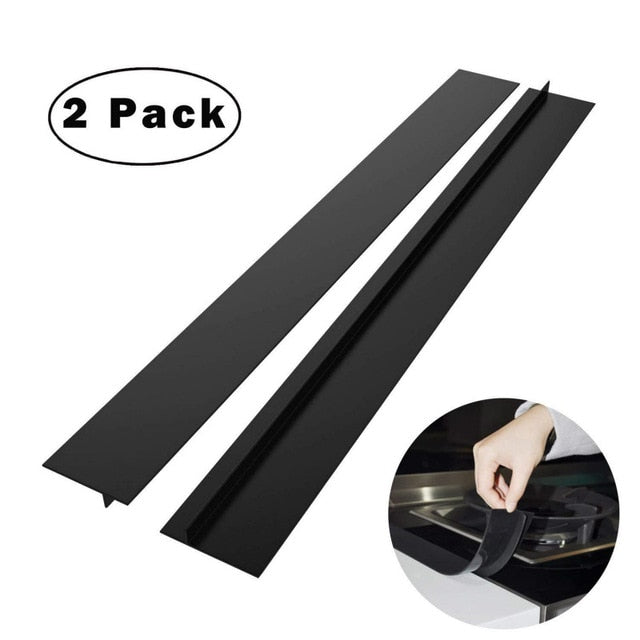 Heat Resistant 2Pcs Kitchen Silicone Stove Counter Gap Cover Mat