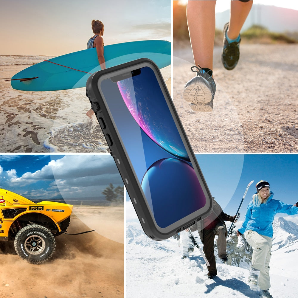 Shockproof Doom Heavy Duty 360 Full Protect Waterproof Phone Case For iPhone 11 iPhone 11 pro Max