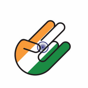 Creative 10.2*6.7CM India Flag Design Car Sticker