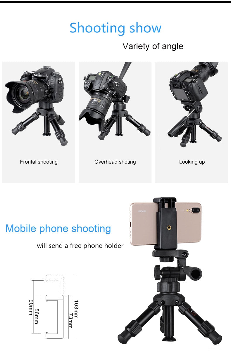 Flexible Mini Smartphone & Dslr Tripod Camera Holder