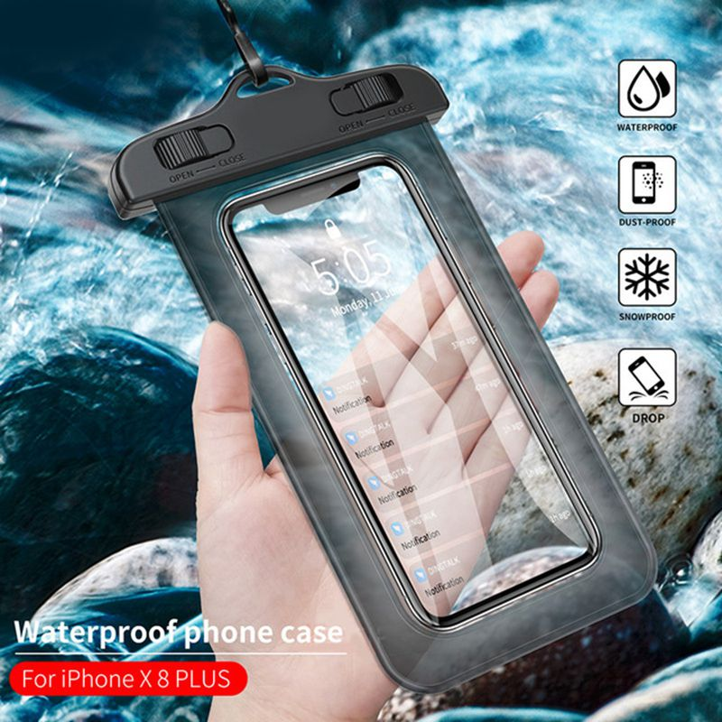 Waterproof Underwater Pouch Phone Case For iphone 7 8 Plus Samsung Xiaomi LG 3.5 inch -5.8 inch