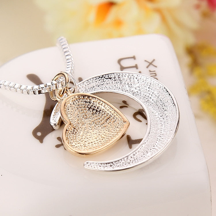 Trendy Heart Pendant with Text MOM Custom Necklace for Women