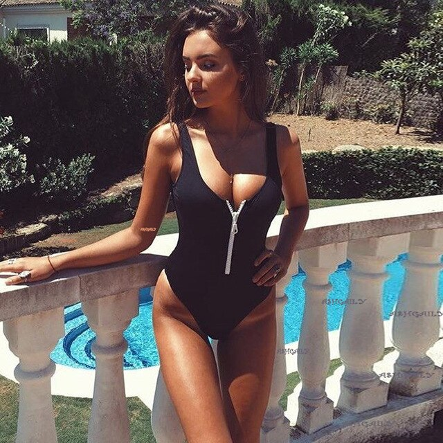 Brand New Women's High Elastic Push Up One Piece Swimming Suit