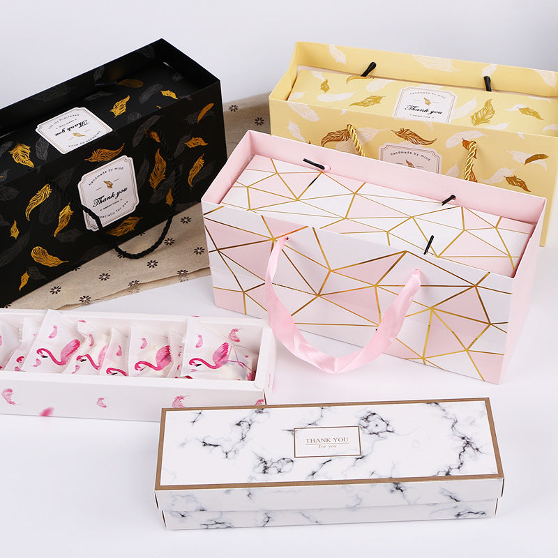 Creative Marble Paper Gift Packing Boxes for Party Supplies