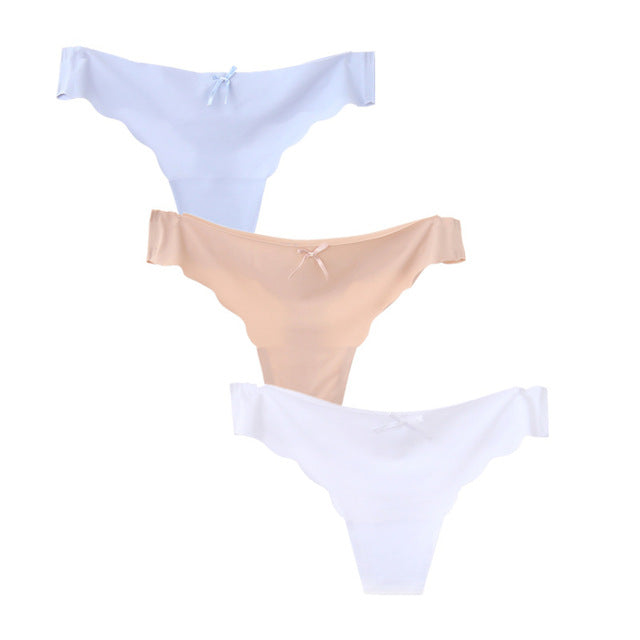 SEXY 3pcs/lot Low Waist Seamless Panties for Ladies