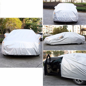 Waterproof All Weather UV Protection Multi-Layer Full Car Cover With Zipper