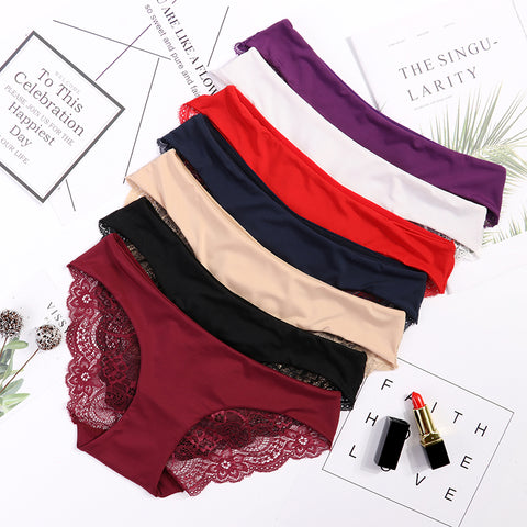 Cotton Seamless Lace Design Panties for Women