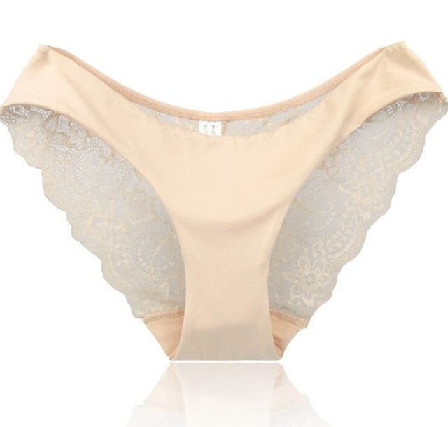 Women's Sexy Cotton Seamless Lace Design Panties
