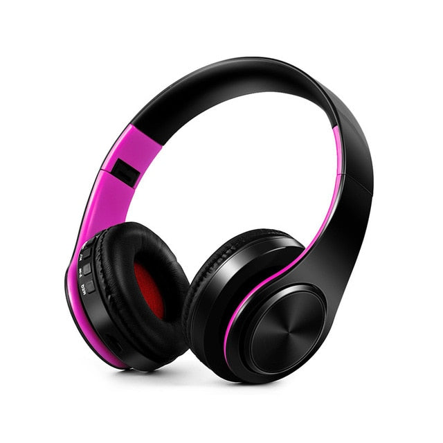 Over-Ear Wireless Bluetooth Headphone with Mic & Supports TF Card for PC