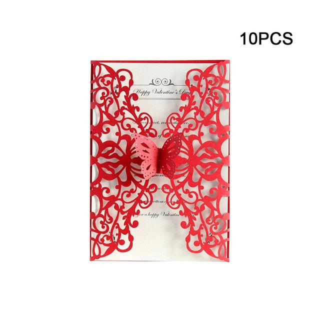 Fashionable 10pcs 3D Pop UP Valentine's Day Greeting Cards